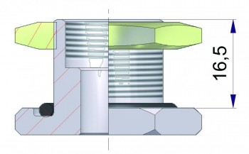 Удлинитель для металлического основания 11 мм. R-0829-1