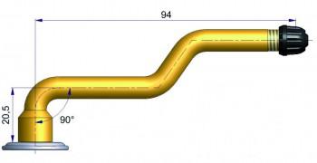 Вентиль с тройным изгибом R-0580-2